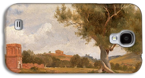 A View At Girgenti In Sicily With The Temple Of Concord Galaxy S4 Case by Litz Collection