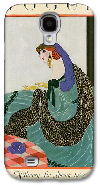 A Vogue Cover Of A Woman Putting On Gloves Galaxy S4 Case by Helen Dryden