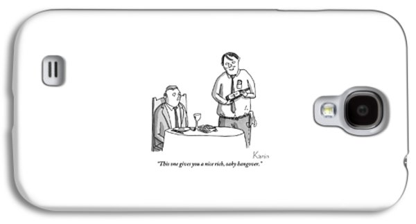 A Waiter Describes The Bottle Of Wine He Holds Galaxy S4 Case
