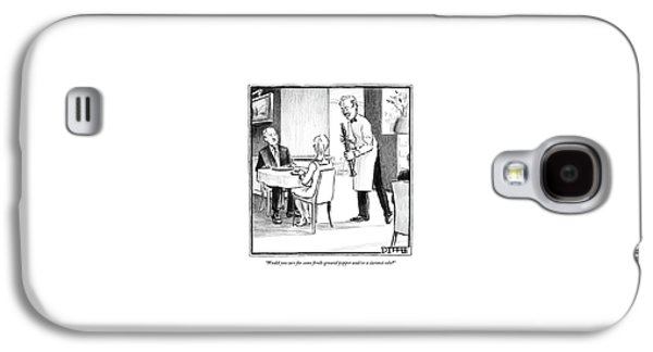 A Waiter Offers Pepper To Two Patrons. His Pepper Galaxy S4 Case