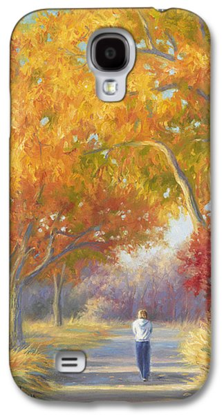 A Walk In The Fall Galaxy S4 Case by Lucie Bilodeau