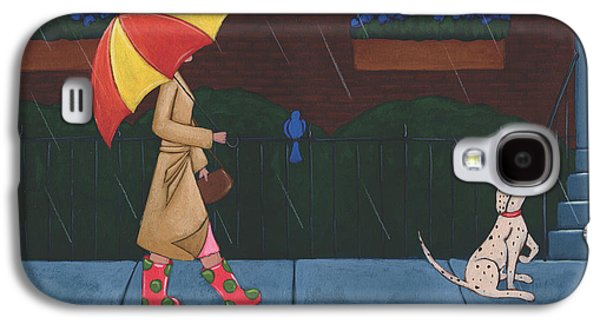 A Walk On A Rainy Day Galaxy S4 Case by Christy Beckwith