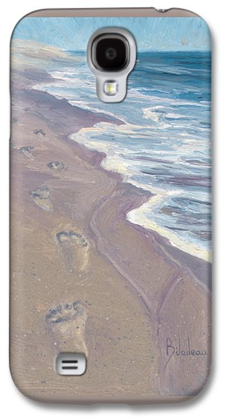 A Walk On The Beach Galaxy S4 Case by Lucie Bilodeau