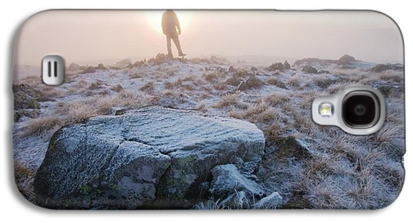 A Walker On The Summit Of Caudale Moor Galaxy S4 Case