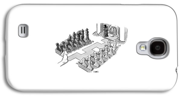 A Wedding In Which The Characters Are All Chess Galaxy S4 Case