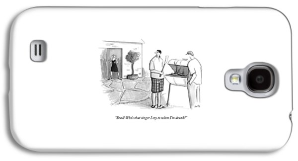 A Wife Asks Her Husband At A Barbecue Galaxy S4 Case