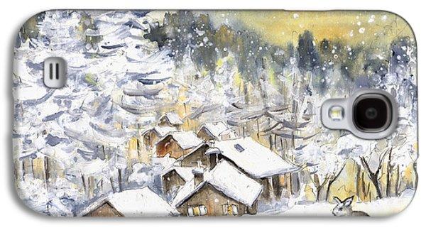 A Wild Rabbit In Snow In Germany Galaxy S4 Case by Miki De Goodaboom