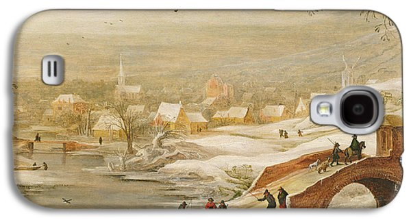 A Winter River Landscape Galaxy S4 Case by Joos or Josse de, The Younger Momper