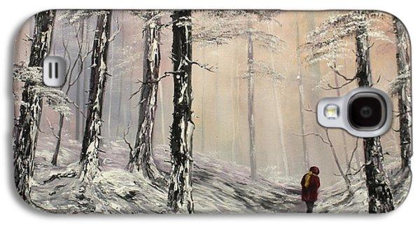 A Winter Walk Galaxy S4 Case by Jean Walker