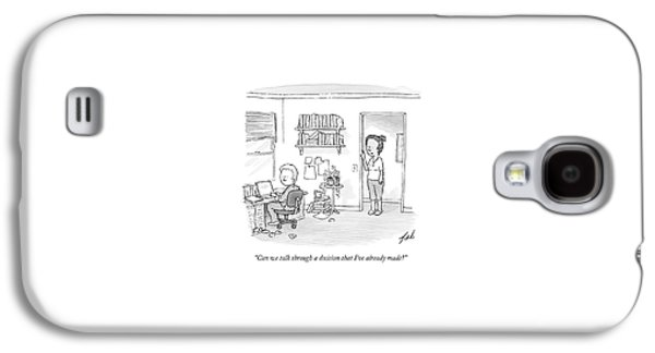 A Woman Addresses Her Husband In His Home Office Galaxy S4 Case