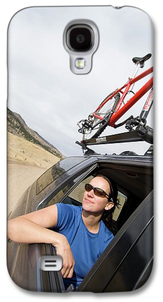 Fort Collins Galaxy S4 Case - A Woman Riding In A Truck On Her Way by Tom Bol