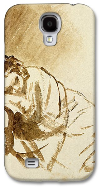 A Young Woman Sleeping Galaxy S4 Case by Rembrandt Harmensz van Rijn
