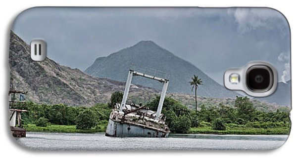 Abandoned Ships With Volcano Galaxy S4 Case