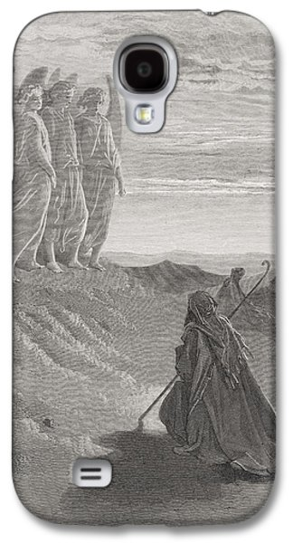 Abraham And The Three Angels Galaxy S4 Case by Gustave Dore