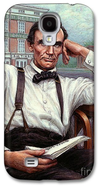 Abraham Lincoln Of Springfield Bicentennial Portrait Galaxy S4 Case by Jane Bucci