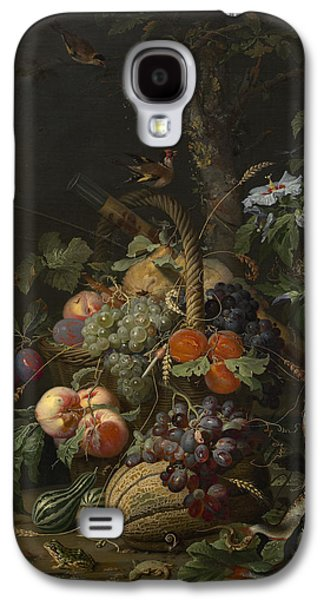 Abraham Mignon Still Life With Fruit Fish And A Nest C 1675 Galaxy S4 Case by MotionAge Designs