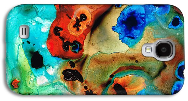 Blue Abstracts Galaxy S4 Cases - Abstract 4 - Abstract Art By Sharon Cummings Galaxy S4 Case by Sharon Cummings