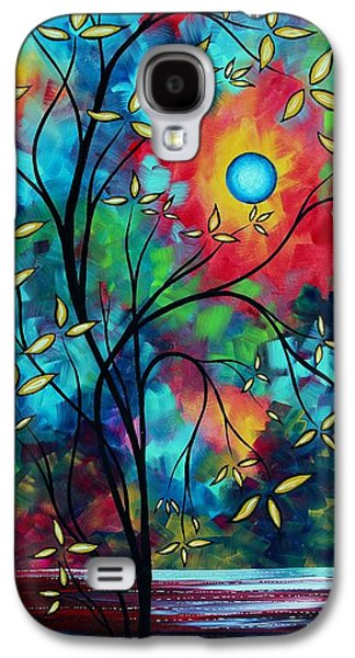 Abstract Art Landscape Tree Blossoms Sea Painting Under The Light Of The Moon II By Madart Galaxy S4 Case