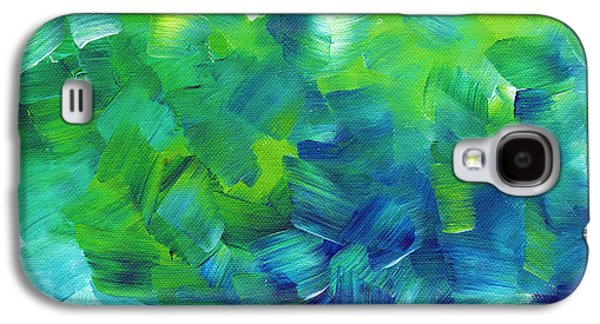 Abstract Art Original Textured Soothing Painting Sea Of Whimsy I By Madart Galaxy S4 Case