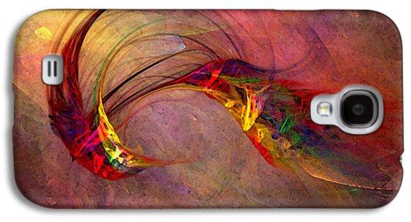 Abstract Art Print Hummingbird Galaxy S4 Case by Karin Kuhlmann