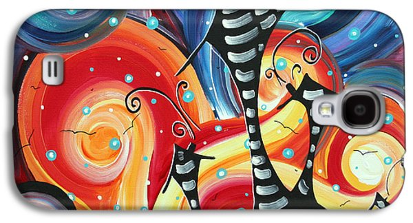 Abstract Art Whimsical Cityscape Funky Houses Homeland By Madart Galaxy S4 Case
