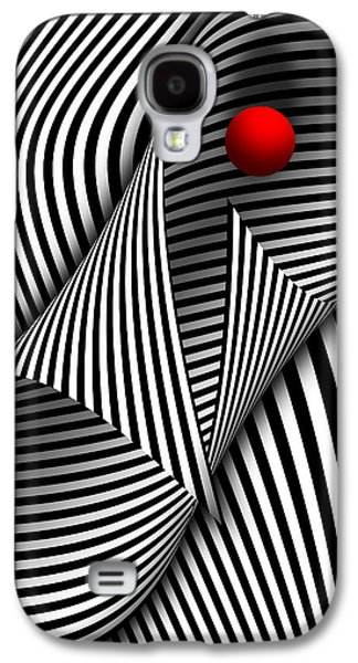 Abstract - Catch The Red Ball Galaxy S4 Case