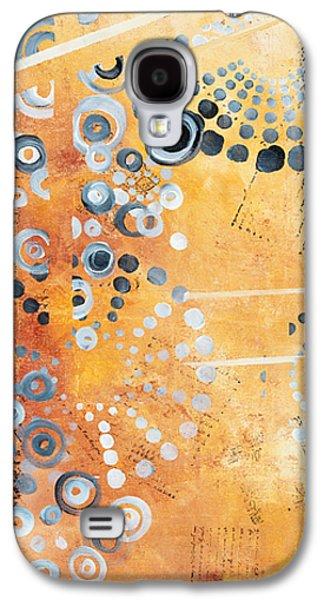 Abstract Decorative Art Original Circles Trendy Painting By Madart Studios Galaxy S4 Case