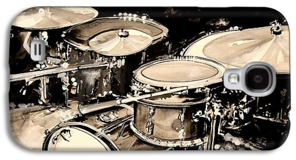 Drum Galaxy S4 Case - Abstract Drum Set by J Vincent Scarpace