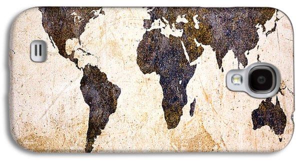 Abstract Earth Map Galaxy S4 Case by Bob Orsillo