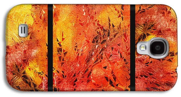 Abstract Fireplace Galaxy S4 Case