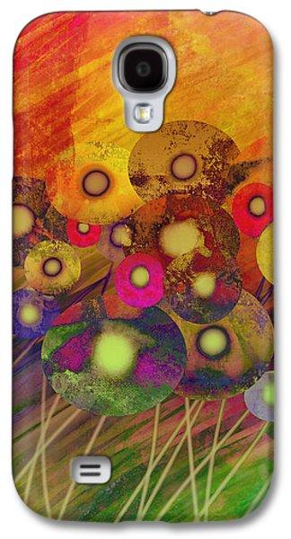 Abstract Flower Garden Fantasy - Abstract Art Galaxy S4 Case