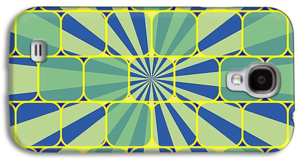 Abstract Geometric Blue Galaxy S4 Case
