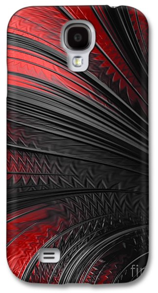 Abstract In Red And Black Galaxy S4 Case by John Edwards