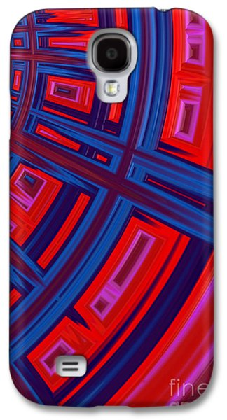 Abstract In Red And Blue Galaxy S4 Case