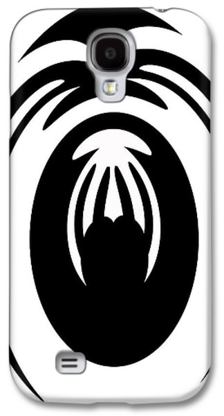 Abstract Jellyfish Black And White Digital Painting Galaxy S4 Case by Georgeta Blanaru