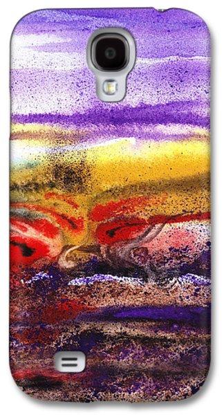 Abstract Landscape Purple Sunrise Earthy Swirl Galaxy S4 Case by Irina Sztukowski