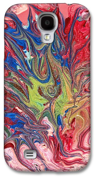Abstract - Nail Polish - The Meaning Of Life Galaxy S4 Case by Mike Savad
