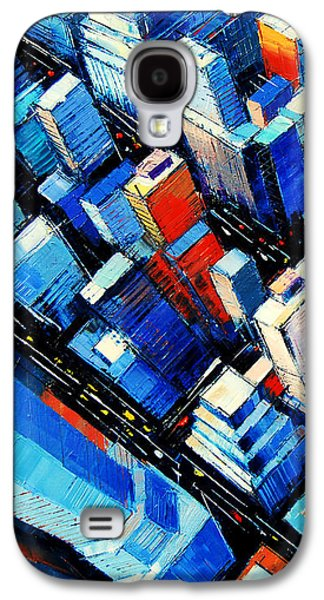 Abstract New York Sky View Galaxy S4 Case by Mona Edulesco
