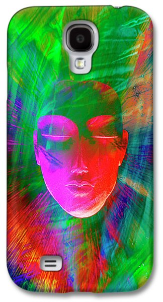 Abstract Of Meditating Human Face Galaxy S4 Case by Jaynes Gallery