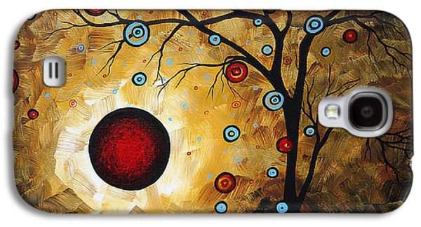 Abstract Original Gold Textured Painting Frosted Gold By Madart Galaxy S4 Case