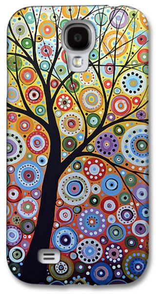 Abstract Original Tree Art Painting ... Sun Arising Galaxy S4 Case by Amy Giacomelli