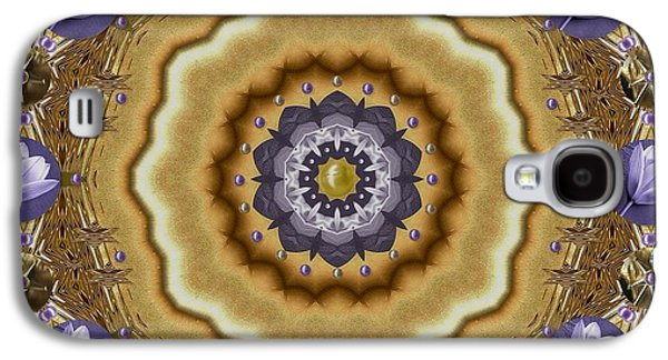 Waterscape Galaxy S4 Case - Abstract Pond In Gold by Pepita Selles