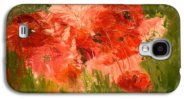 Abstract Poppies Galaxy S4 Case