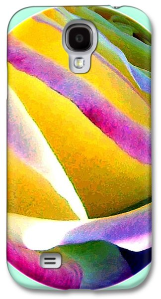 Abstract Rose Oval Galaxy S4 Case