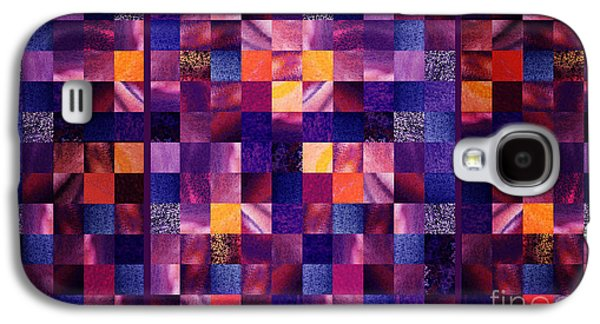 Abstract Squares Triptych Gentle Purple Galaxy S4 Case by Irina Sztukowski