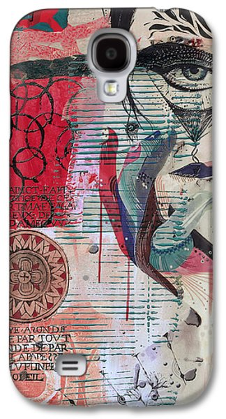 Abstract Tarot Card 008 Galaxy S4 Case by Corporate Art Task Force