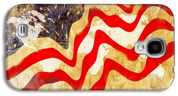 Abstract Usa Flag Galaxy S4 Case by Stefano Senise
