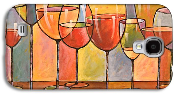 Abstract Wine Art ... Whites And Reds Galaxy S4 Case by Amy Giacomelli