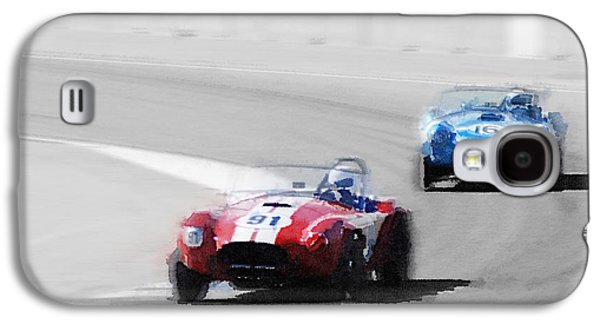 Cobra Galaxy S4 Case - Ac Cobra Racing Monterey Watercolor by Naxart Studio
