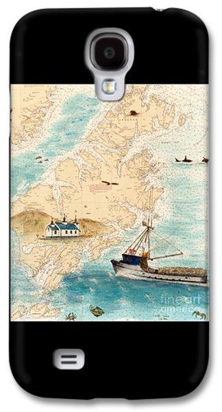 Accomplice Kodiak Crab Fishing Boat Nautical Chart Map Art Galaxy S4 Case